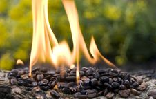 Free Burning Coffee Royalty Free Stock Photo - 5208575