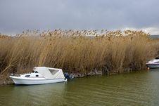 Charter Fishing Boat Nightfall.. Royalty Free Stock Photography