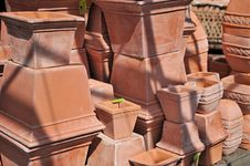 Free Stacked Flower Pots Stock Photography - 5208712