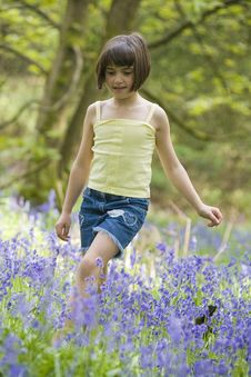 Free Girl In Blubells Royalty Free Stock Photo - 5208725