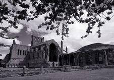 Free Melrose Abbey Scotland Mono Royalty Free Stock Photo - 5209125