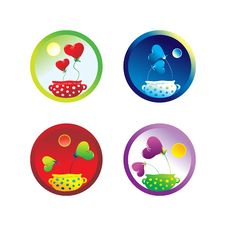 Free Heart Icon Set Royalty Free Stock Image - 5209126