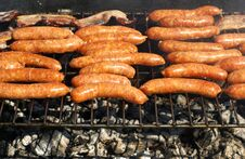 Free Tasty Fresh Sausages Stock Image - 5209221