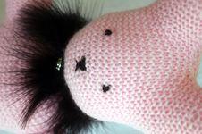 Free Pink Bunny In Black Boa Stock Image - 5209551