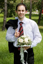 Free He Came With Flowers Of Love Stock Photo - 5210330