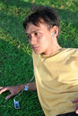 Free Man Listening Music Mp3 Stock Photos - 5211073