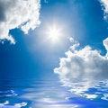 Free Blue Sea And Sunny Sky Stock Photography - 5211152