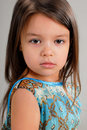 Free Little Girl With Brown Hair Royalty Free Stock Photography - 5213987
