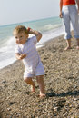 Free Baby On Beach Stock Photography - 5216552