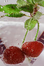 Free Cherry With Bubbles Royalty Free Stock Photography - 5217447