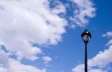 Free English Lamp With Clouds Royalty Free Stock Photography - 5210477