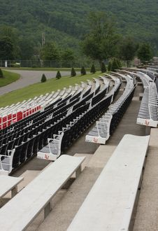 Free Stadium Seating In The Mountains Royalty Free Stock Image - 5210676