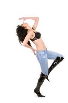 Free Pretty Young Woman Dancing Royalty Free Stock Photos - 5211118