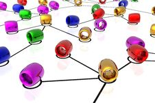 Free 3d Network Connections Royalty Free Stock Photo - 5211235