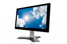 Free 3d Monitor With Sky Background Stock Photos - 5211543