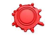 Free Wax Seal With Room For Text Royalty Free Stock Photography - 5211587