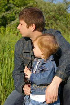 Daughter And Daddy Stock Image