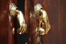 Free Door Handle/knocker Royalty Free Stock Photo - 5212535