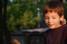 Free Boy And Sword Royalty Free Stock Image - 5212856