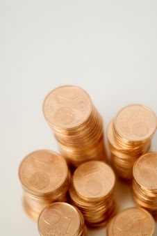 Free European Coins, Eurocent Stock Photography - 5212992
