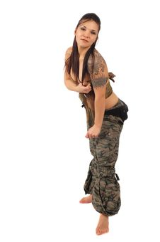 Military Woman Royalty Free Stock Image