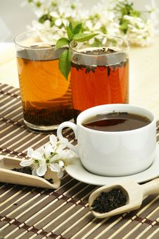 Free Relaxing Cup Of Fruit Tea Royalty Free Stock Image - 5213816