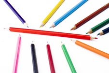 Free Colorful Pencils Royalty Free Stock Photography - 5213847