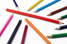Free Colorful Pencils Royalty Free Stock Images - 5213849