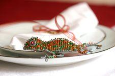 Free Beaded Chameleon Royalty Free Stock Image - 5213866