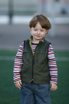 Free The Cheerful Kid Stock Photography - 5213942