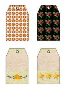 Free Floral Gift Tags Stock Photography - 5213962