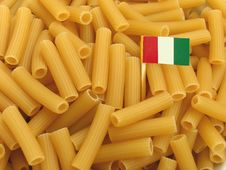 Pasta With Flag Stock Image