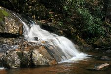 Laurel Falls In The Smoky Mountains NP Stock Photo