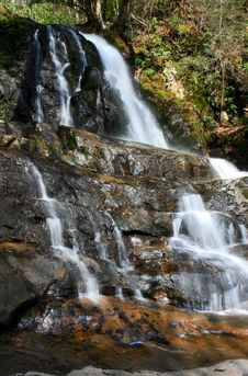 Laurel Falls In The Smoky Mountains NP Royalty Free Stock Photography