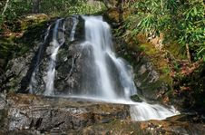 Free Laurel Falls In The Smoky Mountains NP Stock Photography - 5214112