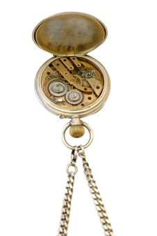 Free Old Pocket Watch. Royalty Free Stock Image - 5214156