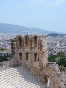 Acropolis Theater Stock Photo