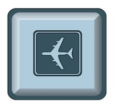 Free Web Button Airplane Stock Photo - 5214640
