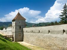 Brasov Medieval Fortifications, Romania Stock Images