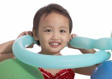 Free Little Child Holding Balloon Stock Photography - 5215562