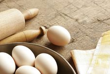 Free Eggs And Rolling Pin Stock Image - 5215961