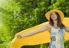 Free Happy Girl On Meadow Stock Photo - 5216200