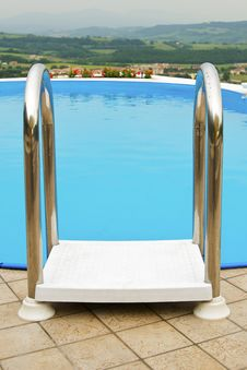 Free Ladder For Swimming Pool Stock Photography - 5216392