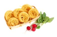 Free Uncooked Macaroni And Radish Royalty Free Stock Photo - 5216535