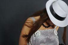 Free Retro Portrait In White Hat Stock Photo - 5217000
