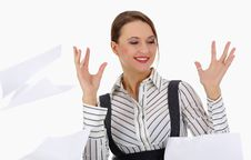 Free Happy Young Businesswoman.attractive Business Woma Stock Photography - 5217032