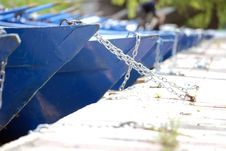 Boats Bows (prows) Stock Image