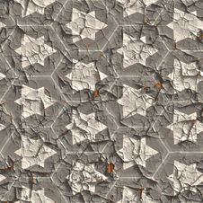 Seamless Cracked Plaster (paints). Stock Image