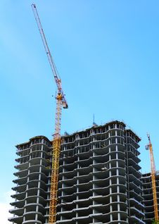 Construction Of New High-rise Stock Photo