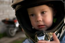 Free Little Boy With Helmet Stock Image - 5218961